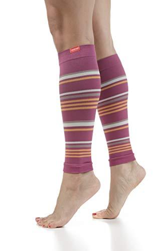 VIM & VIGR 15-20 mmHg Mangas de compresión graduadas para piernas para mujeres y hombres, 1, Raspberry & Creamsicle