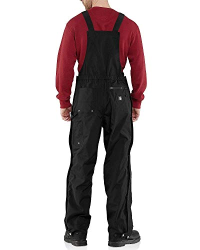 Carhartt Men's Shoreline Waterproof Breathable Bib Overalls,Black,Large