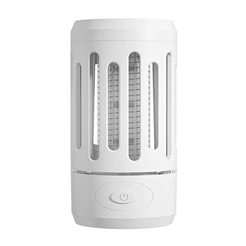 QuRRong Lámpara de Mosquitos Lámpara De Mosquitera De Descarga Eléctrica Física Creativa USB Hogar Mosquito Killer Artifact para Patio Trasero (Color : White, Size : 13.5x7cm)