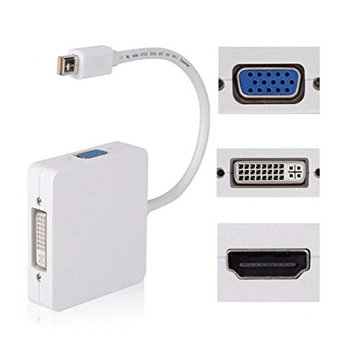 jinclonder Mini DP naar HDMI VGA DVI DREI in een verlengkabel adapter ingang: Mini DP Display Port uitgang: HDMI (vrouwelijke interface) 19-polig type, DVI (vrouwelijke interface)