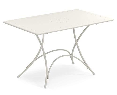 EmuPigalle Rectangular Folding Table cm. 118x76 Item 903 Color White mat cod. 23