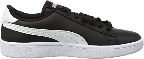 Puma Unisex-Kinder Smash v2 L Jr Sneaker, Schwarz Black White, 36 EU