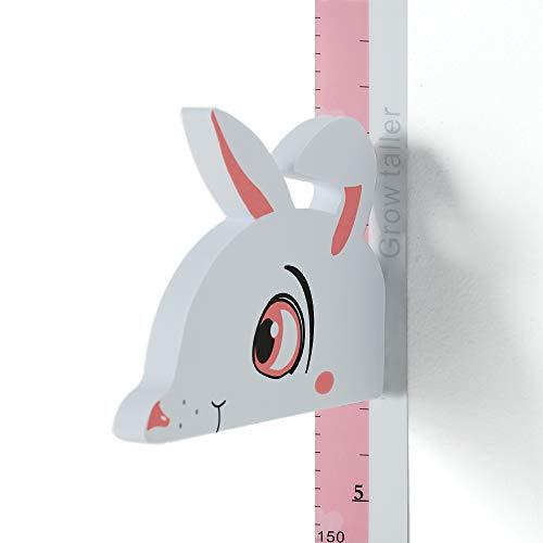 Wopeite 3D Swan Growth Chart Height Ruler Magnetic Measurement Removable Header Portable Decals Children Room Kindergarten Blue
