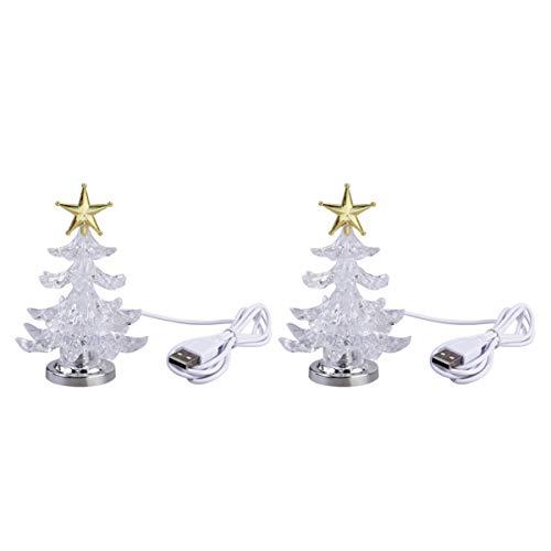 OSALADI 2 luci natalizie per albero di Natale con stella topper USB lade RGB, luce notturna per soggiorno, camera dei bambini (oro)