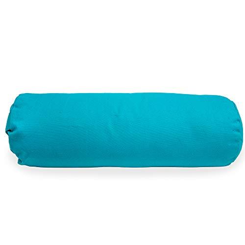 Myga RY1147 - Almohada de apoyo para yoga restaurativo, cojín suave y estable para yoga de embarazo con asa de transporte, 63 x 25 cm, color gris