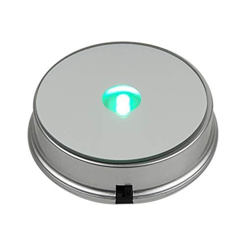 Komerci LED Leuchtsockel RGB 75mm rund sanfter Farbwechsel für 3D Laser Glasblock Glasfoto