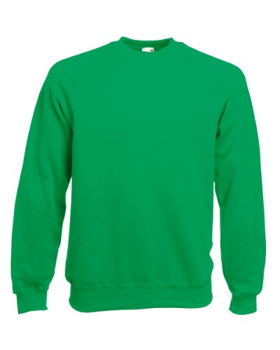 FRUIT OF THE LOOM Pull à col rond pour homme - Vert - Medium