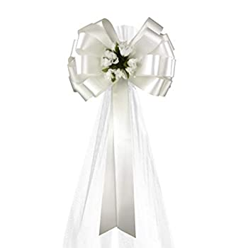 tulle pew bows