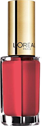 L'Oréal Paris Color Riche Le Vernis nagellak koraal glanzende kleurlak in felle met geïntegreerde overlak 305 Dation Coral.