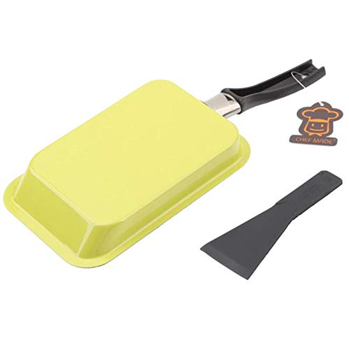 Sartén rectangular japonesa antiadherente Tamagoyaki para tortillas, antiadherente, para huevos, tortitas, utensilios de cocina verde