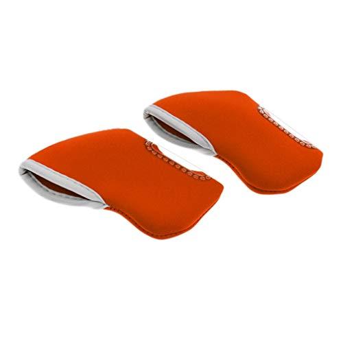 Inzopo 10 piezas de neopreno para palos de golf, funda protectora de hierro, para cabeza de palo, para Ping Taylormade Mizuno Callaway, color naranja