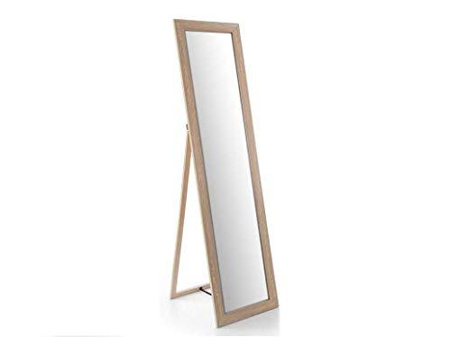 GICOS IMPORT EXPORT SRL Specchio Rettangolare da Pavimento Struttura in Legno Colore Rovere 39 * 150 cm CKM-792359