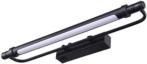 Spiegellamp in Amerikaanse landelijke stijl spiegellamp schminflamp Scandinavische make-up lamp badkamer armatuur sneeuwlamp (afmetingen: 70 cm 10 W, kleur: warm licht)