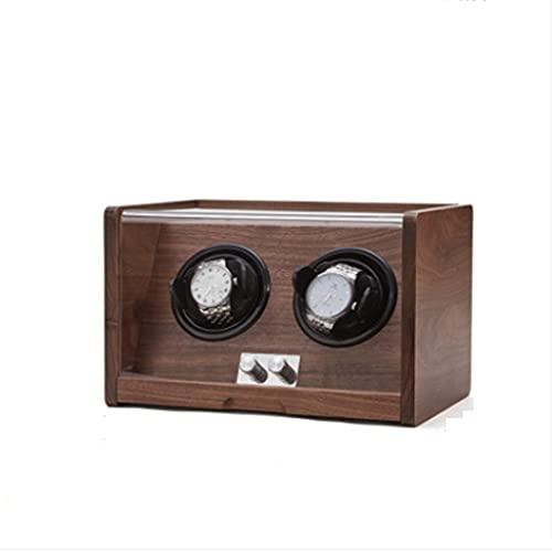 QIFFIY Caja de joyería de la Caja de Reloj de Madera, Caja de Almacenamiento de la coctelera con Cubierta Transparente, Caja de Almacenamiento Retro Simple 16.5 * 18.5 * 16.5 (tamaño : 2 epitope)