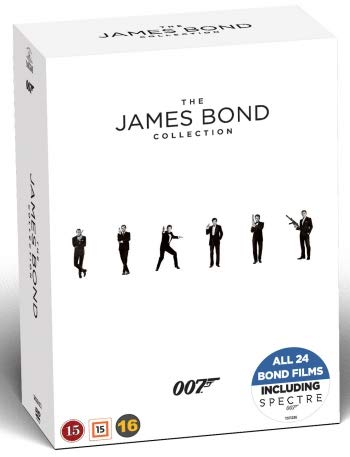 James Bond Collection - 24-DVD Box Set ( Spectre/ Skyfall / Quantum of Solace / Casino Royale / Die Another Day / The World Is Not Enough / Tomorrow Never Dies [ Schwedische Import ]