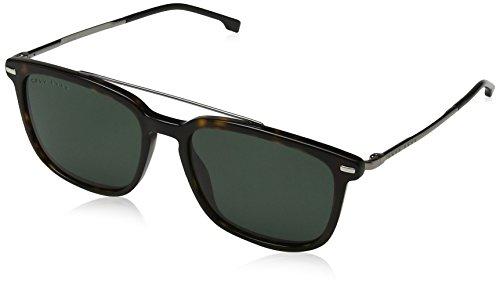 Hugo Boss Boss 0930/S QT 086 55 Gafas de sol, Marrón (Dark Havana/Gn Green), Hombre