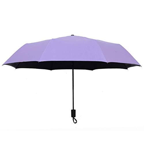 Stella Fella Paraguas Paraguas de Apertura automática Tres sombrillas Plegables Paraguas Protector Solar Paraguas Paraguas Agua Flor