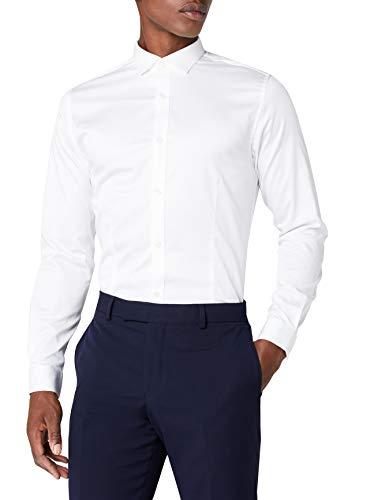 JACK & JONES Herren Jjprparma Shirt L/S Noos Businesshemd ,White,S