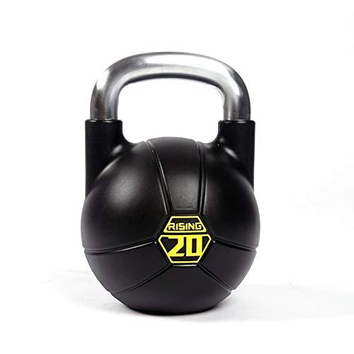 Kettlebells WXYZ CPU Completamente De Acero De Goma Deportes Pesas Rusas, Ampliada Base Chapado De La Manija, Hombres Y Mujeres Muscular 8kg Formación, 12 Kg, 16 Kg, 20 Kg, 24 Kg (Size : 20kg) ⭐