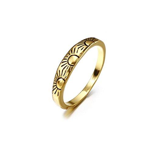 YJYdada Ring, Fashion Women Alloy Sun Ring Wedding Party Women Jewelry (9)