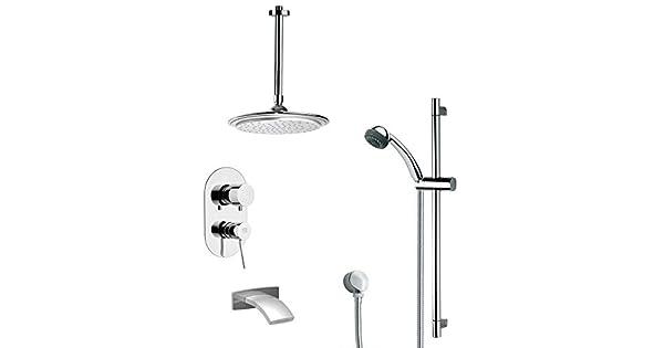 7.5 L x 10 W Remer TSR9013 Galiano Pressure Balance Tub and Shower Faucet