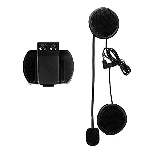 qinjun Altavoz de micrófono, V4 V6 Accesorios de intercomunicación Micrófono Altavoz y clip para V4 V6 casco intercomunicador motocicleta BT Interphone 3.5mm Jack Plug