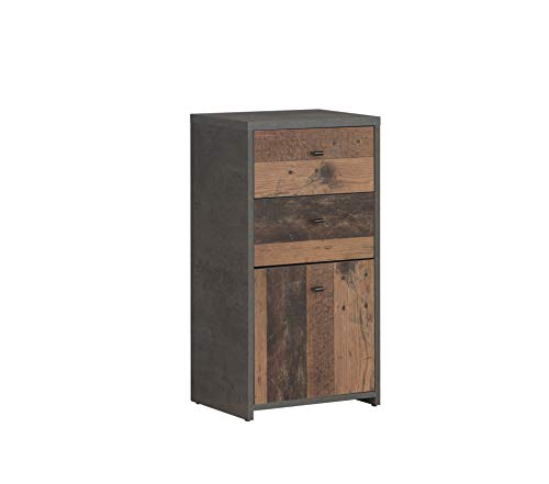 FORTE commode 2 laden, 1 deur 40,3 cm x 77,5 cm x 29,6 cm