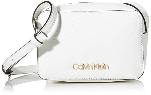 Calvin Klein Damen Ck Must Camerabag Cav Umhängetasche, Weiß (White), 1x1x1 cm