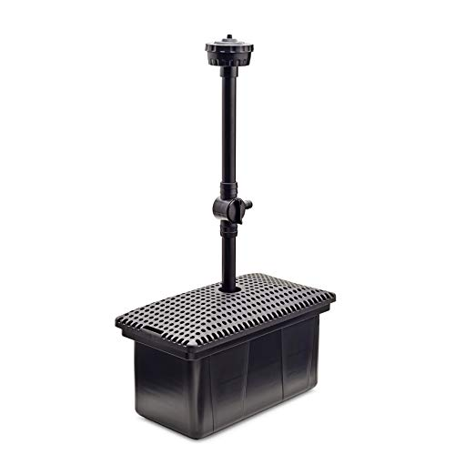 AQUANIQUE Unterwasser Filter UF 3000, Teichfilter Set mit Wasserspiel und Pumpe, für Teiche bis zu 3000 l geeignet