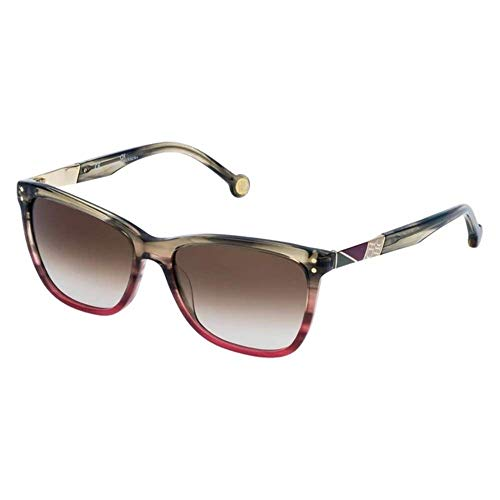 Carolina Herrera SHE7495504AB Gafas, STREAKED OLIVE+TRANSPARENT PINK, 55/16/135 para Mujer