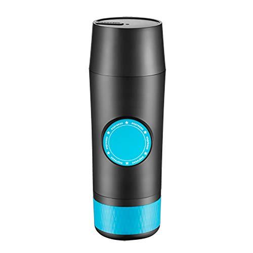 DPFXNN Cafetera Espresso portátil, café eléctrico a presión 2 en 1, la mayoría de los Dispositivos de Viaje compatibles con una Sola operación, para Autocaravana