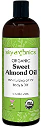 organic sweet almond oil by sky organics