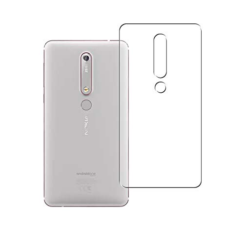 Vaxson 2 Unidades Protector de pantalla Posterior, compatible con Nokia 6 II 2018 NOKIA 6.1 [No Vidrio Templado] TPU Película Protectora Espalda Skin Cover