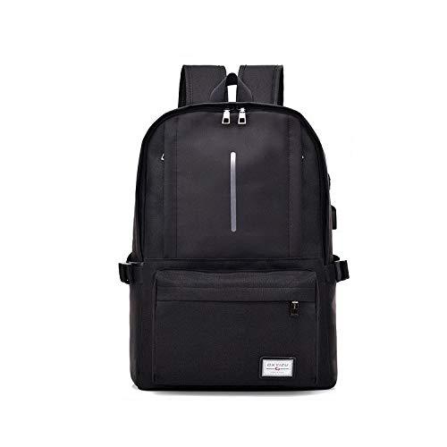 Laptop - computer rugzak, reflecterende veiligheidsventilatie ademend USB - poort, reis / bedrijf 45 * 33 * 15 cm, zwart (zwart) - edc-876688