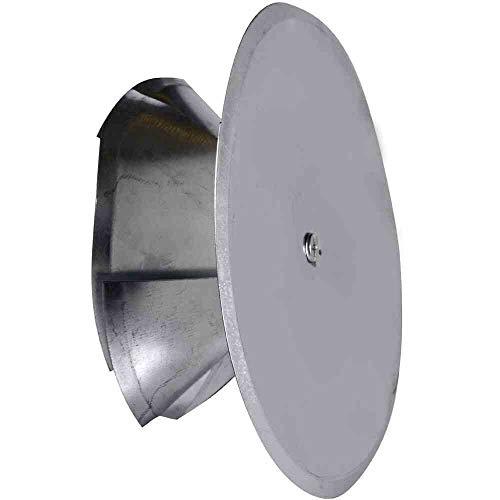 FIREFIX 2097/1 Kaminlochdeckel mit Spreiztrichter und Isolierung, verstellbar bis ø 160 mm, Silber