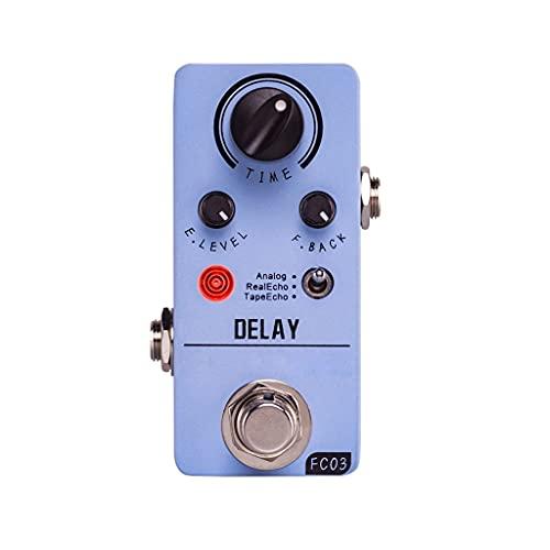 BAOFUBA FC03 Mini Delay Pedal Digital Guitar Delay Effects Pedal with 3 Modes Analog Real Echo Tape Echo