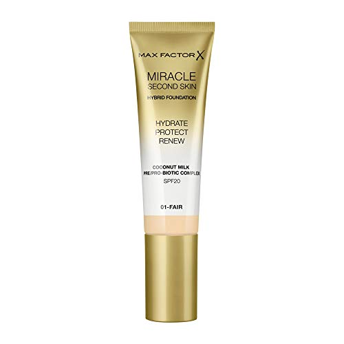 Max Factor Miracle Second Skin Foundation LSF 20 - Farbe 01 Fair, 30 ml