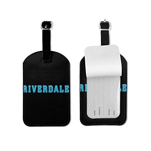 Rive_rdale Luggage Tags Suitcase Card Holder Bag Tag Name Address ID Bag Label Microfiber PU Leather