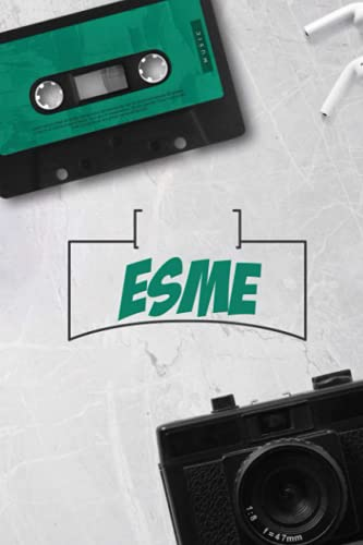 Esme: Vintage Custom Personalized Name Esme Notebook, Diary, Journal - Retro Birthday, 120 page, Lined, 6x9
