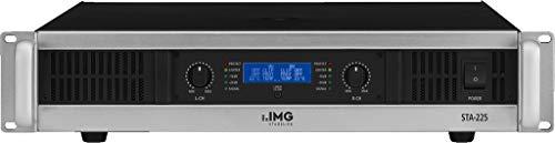 IMG STAGELINE STA-225 Stereo PA-Verstärker mit integriertem Limiter schwarz/silber