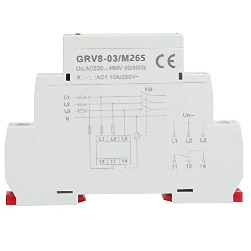 GRV8-03 Three Phase Voltage Monitoring Phase Failure IP20 Protection Relay Phase Sequence(M265)