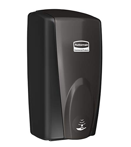 Rubbermaid Commercial Products AutoFoam Dispenser, Automatic Touch Free Wall Mounted Soap and Sanitizer Dispenser, Hand Sanitizer Dispenser, Black Pearl