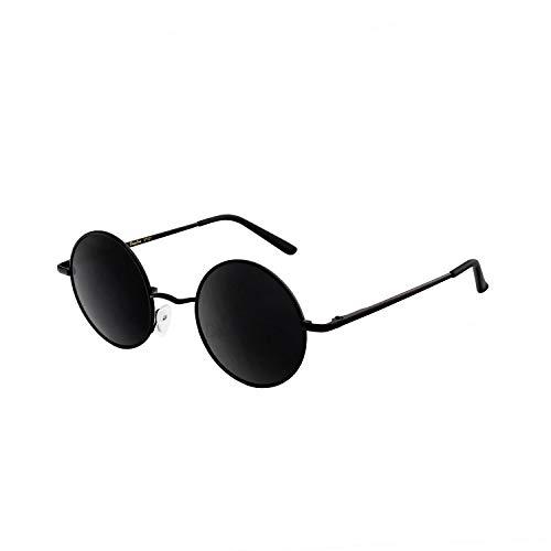 DUDUKING Gafas de sol redondas, retro, clásicas, vintage, con protección UV400, polarizadas, marco de metal redondo, para hombre y mujer, gafas de espejo