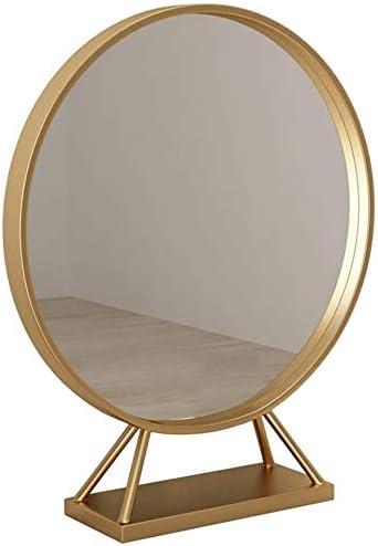 Mirrors Makeup Desktop Metal San Diego Branded goods Mall Gold Bathroom Bedroom Deskto