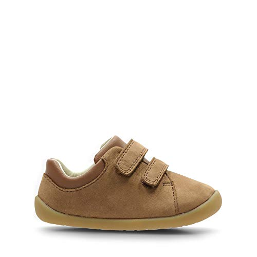 Clarks Jungen Roamer Craft T Sneaker, Braun (Tan Leather Tan Leather), 23 EU