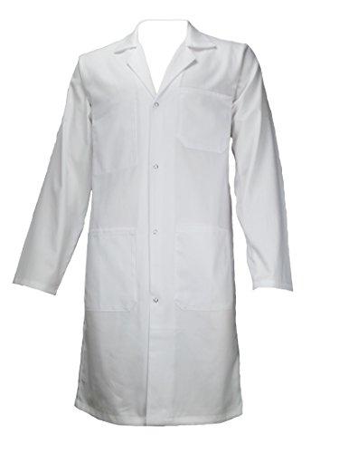 AMAWORK PH Blouse Blanche 100% Coton Chimie Laboratoire Medical Lyceen Etudiant T0