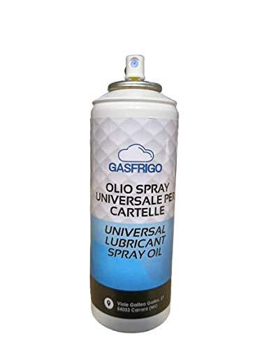 OLIO SPRAY 200 ml. UNIVERSALE x LUBRIFICAZIONE CARTELLE CARTELLATRICE TUBO RAME
