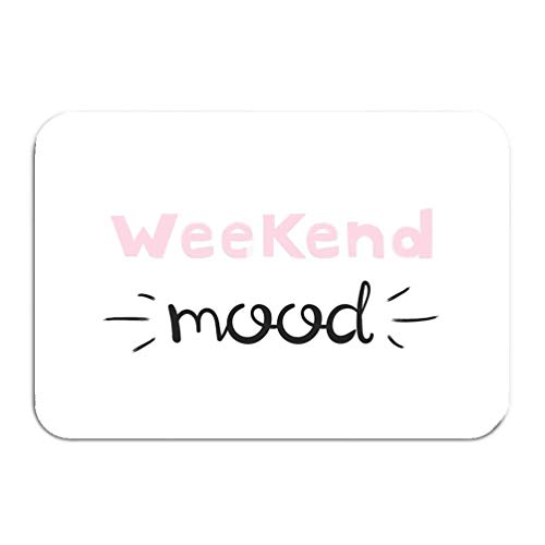 Outside Shoe Non-slip Color Dot Doormat weekend mood handwriting lettering typography slogan printing tees fashion prints posters cards Mats Entrance Rugs carpet 16 * 24 inch