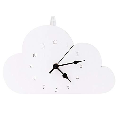 BESPORTBLE Relógio de estilo nórdico de 1 unidade em forma de nuvem para relógio de mesa para dormitórios Relógio doméstico
