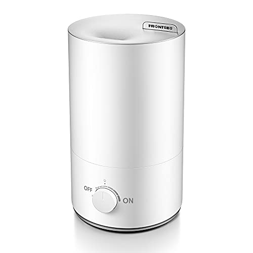 FRONTSEA Top Fill Humidifiers for Bedroom Kids/Baby & Plants, 4.2L Cool Mist Humidifier for Home/Large room, Whisper-Quiet Operation, Automatic Shut-Off Ultrasonic Humidifier Included Essential Oils, White
